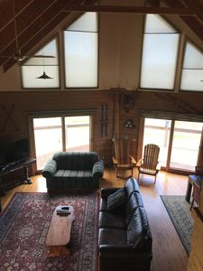 Fabulous vaulted log cabin ceiling