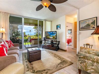 Photo for Ocean Front views! Two bedroom ground floor condo at Menehune Shores. 126