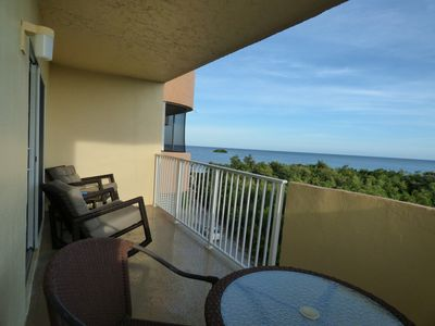 The large private balcony with Ocean Views!