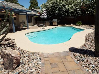 Large, private (non heated) pool.