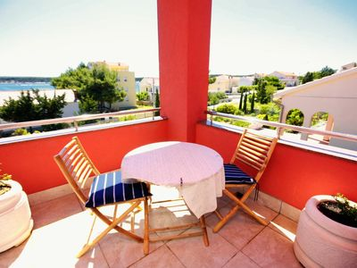 Photo for Studio flat with terrace and sea view Barbat (Rab)