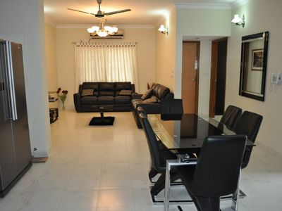 Photo for Lake front luxury three bedrooms fully furnished air-conditioned apartment