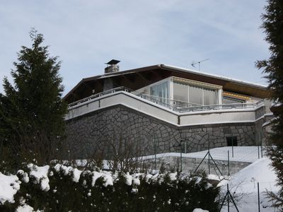 Photo for Chalet villa standing Vosges covered and heated swimming pool wifi bikes view