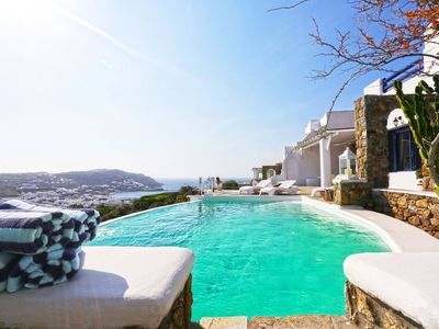 Photo for Panoramic Villa Dorian to rent in Mykonos, with 4 bedrooms, private pool, 8 sleeps.