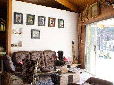 Photo for Rustic charming open plan farm chalet