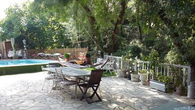 Photo for Charming house with pool in small village of Herault in the heart of vineyards