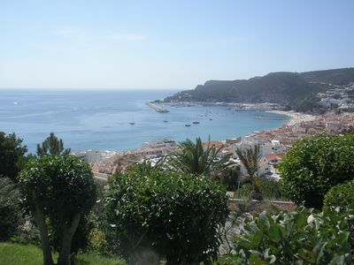 View over Sesimbra from the building entrance
