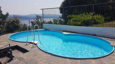Photo for Villa with park and swimming pool, wonderful lake view
