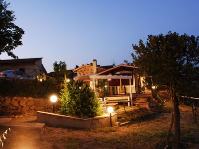 Photo for Cosy apartment with TV, patio, washing machine, panoramic view, parking, close to San Gimignano