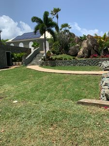 Your entrance garden and walkway to the Villa