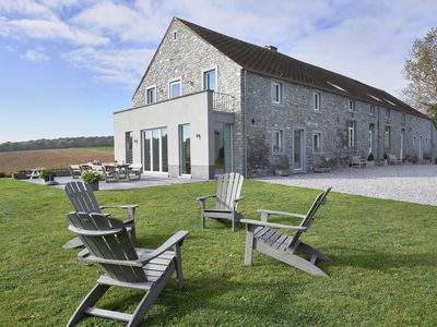 Photo for Luxury farmstead with indoor pool near the valley of Molognée