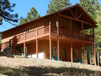 Photo for Hawk Ridge Cabin-Luxurious Secluded Cabin with Hot Tub.