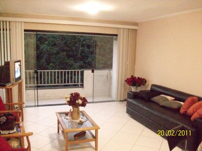 Photo for Apartment in Guaruja -Pitangueira with terrace overlooking the sea