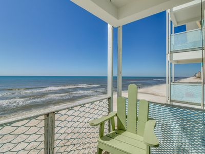 Photo for Waterfront condo w/ a shared pool, balconies, & beach access - Snowbird rates!
