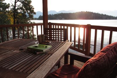 Back deck/patio of cabin