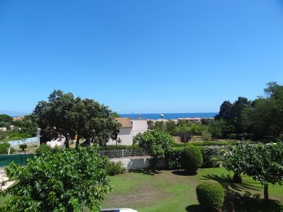 Photo for Superb duplex T3 conditioning Terrace with sea view, 300 m from the beach