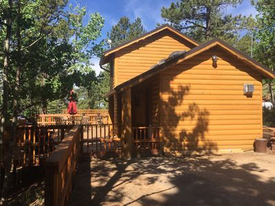 Photo for Rustic Cabin - Peaceful - Private