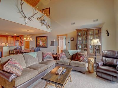 Photo for Rustic condo on Sugar Mountain w/large private deck + ski slope access