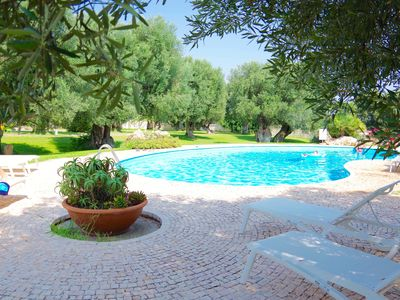 Photo for 4 terraced bungalows on an antique country residence amidst v olive groves - the sea