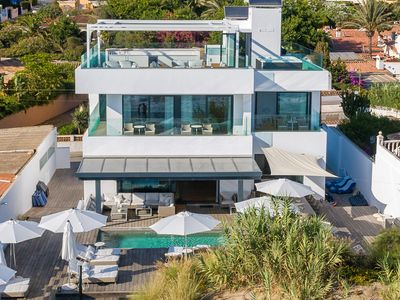 Photo for Luxury Frontline Beach Villa in Marbella East, Own Dunes, Right on the Beach