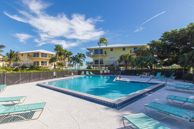 Communal outdoor pool with gorgeous Gulf views
