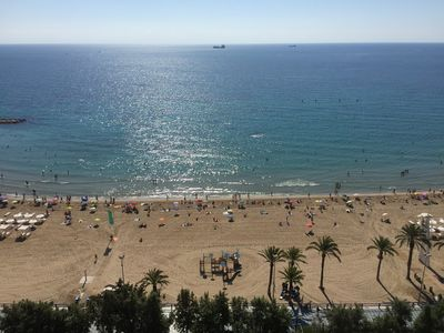 Photo for Wonderful apartment in front of the beach and close to Alicante city center