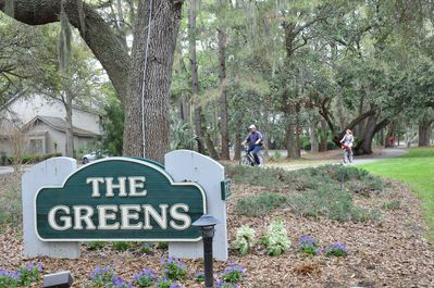 Entrance to The Greens. Next to closest development to beach within Shipyard.