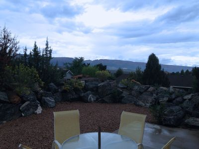 private patio overlooking Colorado National Monument