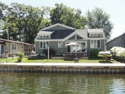 Photo for Luxury Gun Lake Waterfront Home w/paddleboards/kayaks, grill, firepit, free wifi