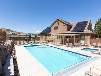 Photo for Sleeps 32! Private fenced Pool/Spa, Play Gym, BBQ, patio, Sleeps 32