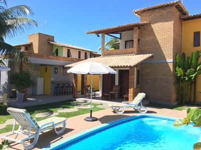 Photo for Excellent house with Pool, gated community 300m from the beach and Hibiscus