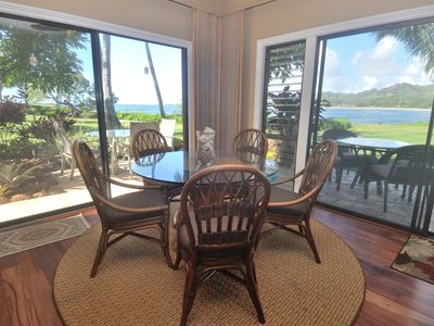 Beachfront Kauai condo, Walk out your door and be on  Kauai  sand in 10 seconds