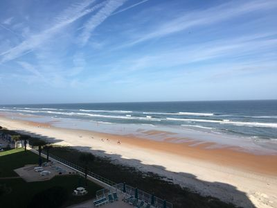Photo for Beautiful Direct Oceanfront Condo on no drive beach with spectacular views.