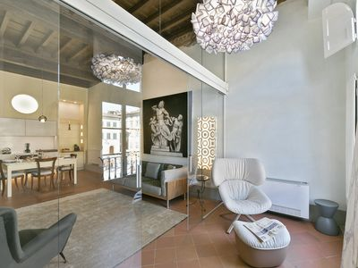 Photo for Paradiso - Two-bedroom apartment overlooking Santa Croce cathedral in Florence