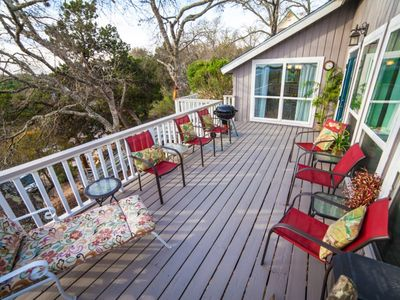 Photo for Casa del Arbol (tree house) - Relaxing home with Deck overlooking Canyon Lake