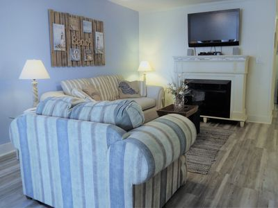 Photo for Pier Pleasure - Ocean View 1st Floor Condo - Steps to Beach and Pier!