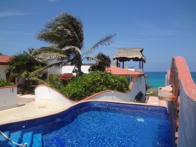 Photo for OCEAN FRONT-MEXICAN STYLE VILLA WITH CARIBBEAN  BLUE SEA VIEWS  WITH POOL