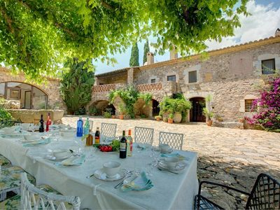 Photo for Sant Miquel de Cruilles Villa, Sleeps 15 with Pool, Air Con and WiFi