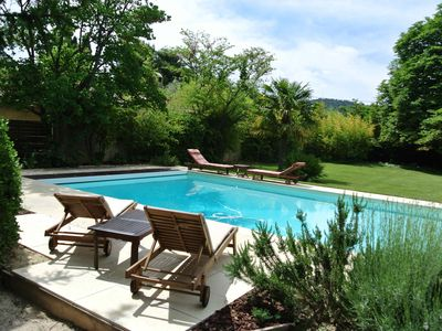 Photo for At the heart of Vaison la Romaine, charming house with garden and large swimming pool