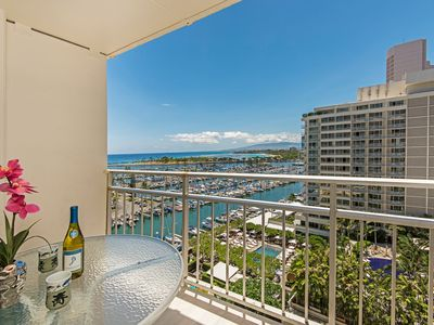 Photo for Ocean View Ilikai Condo with Full Kitchen & Lots of Amenities, FREE PARKING!