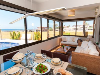 Photo for Beach front apartment in Playa de Las Burras CN