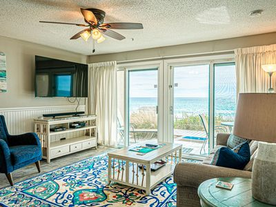 Photo for Ground Floor Ocean Front Oasis On Crystal Beach & CONTACT FREE CHECK IN