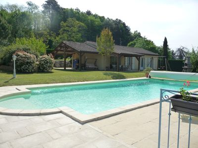 Photo for SARLAT LA CANEDA - HOUSE CLIMATISEE 8 PEOPLE - HEATED SWIMMING POOL
