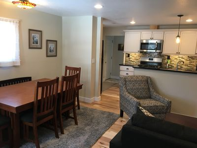 Open dining area, kitchen and living room