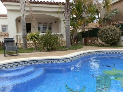 Photo for CASA NORDINE,Ideal house for your holidays near the sea, free wifi, air conditioning, private pool, pets allowed, dog's beach.