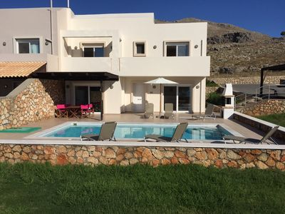 Photo for Blue Ray villa Private Pool and Great Sea Views. EOT licenced Lindos/Pefkos