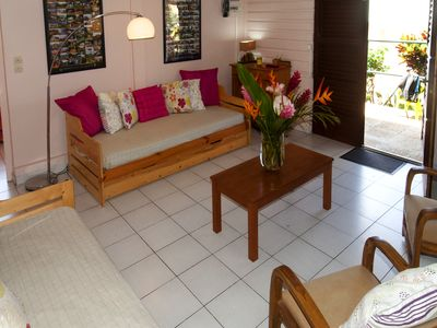 Photo for In a Creole villa, new house for 5 people, seaview