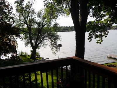 lake view from the deck