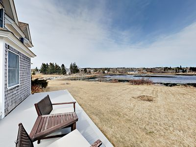 Deck - Relax on the large deck offering expansive views of Prospect Harbor.