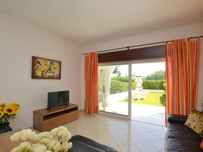 Photo for Apartment T1, near the beach, with garden and pool, excellent location.